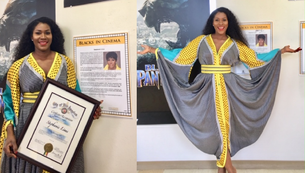 African Celebrities: Stephanie Linus Gets Special Recognition for DRY At The Black History Month