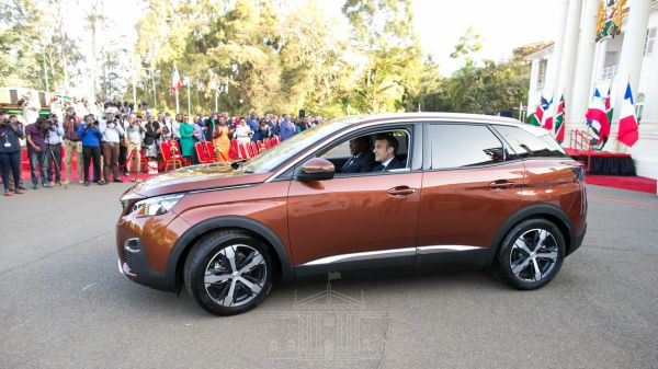 President Kenyatta, Macron unveil locally assembled Peugeot SUV: