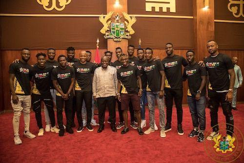 Black Stars Squad Meets President Akufo-Addo  Ahead Of AFCON
