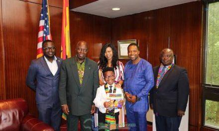 Nicholas Buamah: 8yr-old Nicholas Buamah charms Embassy of Ghana in DC, takes over Ambassadorship