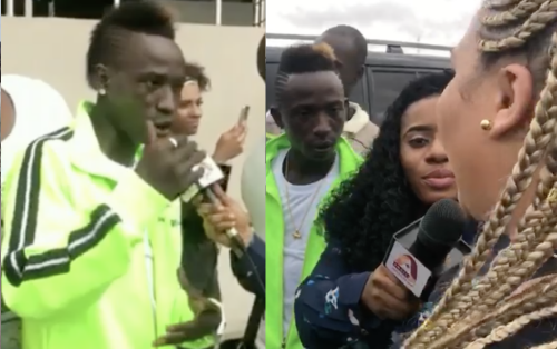 Patapaa's German Girlfriend Arrives For Ghana Meets Naija 2019