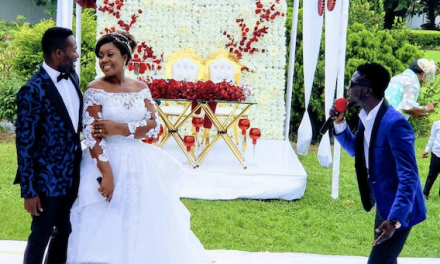 Adjetey Anang And Wife  Reniew Vows