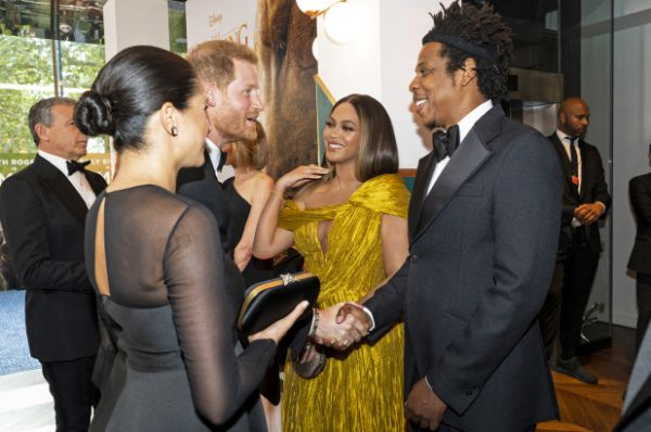 Beyonce The Lion King Prince Harry, Meghan Markle, the Duchess of Sussex , Beyoncé and Jay Z