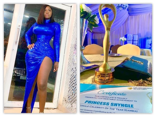 Princess Shyngle Wins Female Celebrity Of The Year