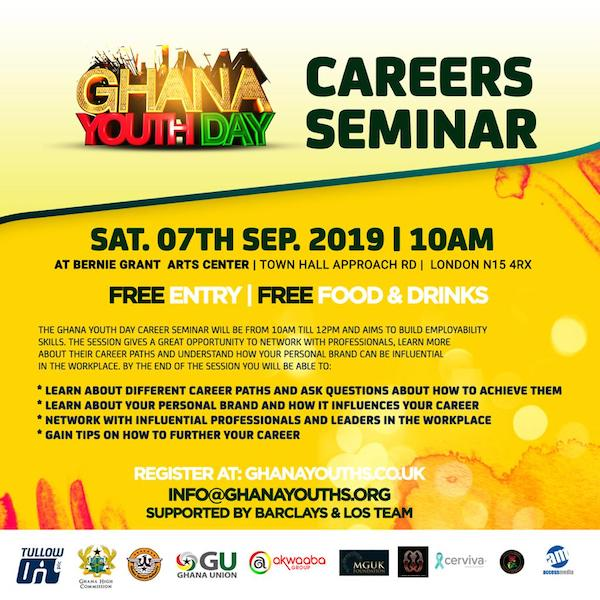 Ghana Youth Day 2019 Career Seminar.