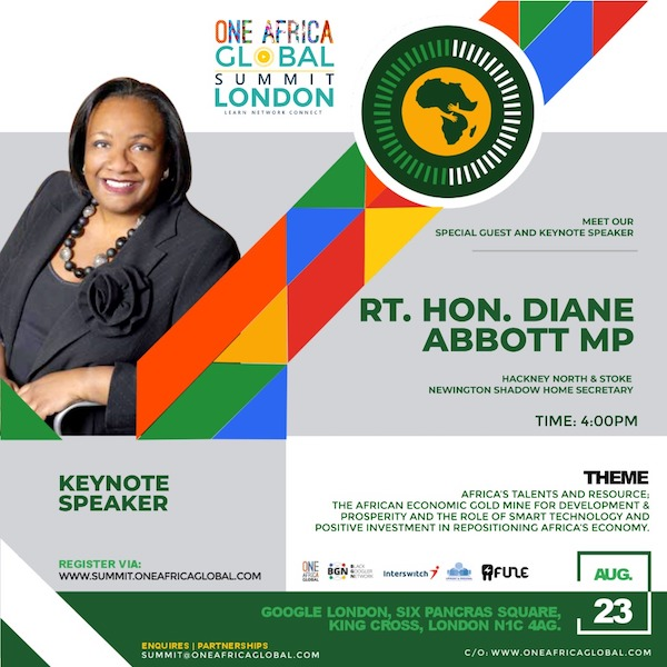 One Africa Global Summit London 2019..