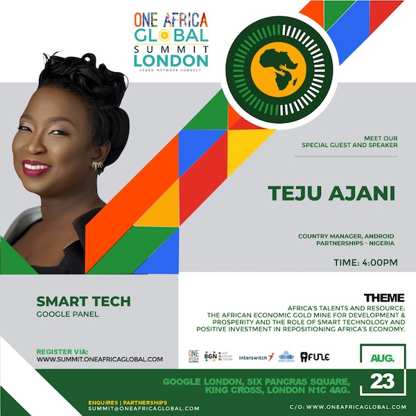 Country Manager, Android Partnerships - Nigeria -Teju Ajani
