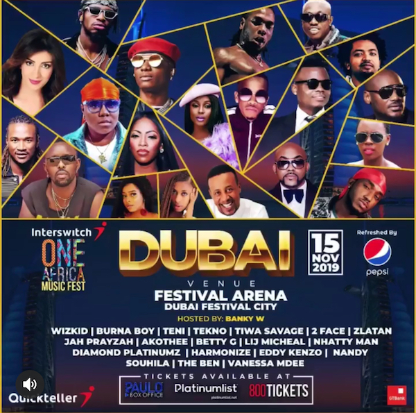 One Africa Music Fest Dubai 2019
