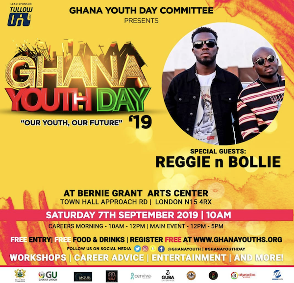 Special Guests ReggieNBollie at Ghana Youth Day