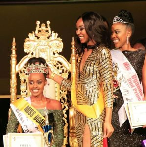 celebrating 9 years under JM Promotions. Queen - Bridget Katungi 1st Princess- Latisha Antoine 2nd Princess- Vanessa Kaitesi