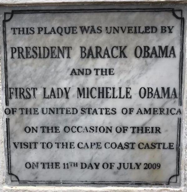 Obama in CAPE COAST CASTLE