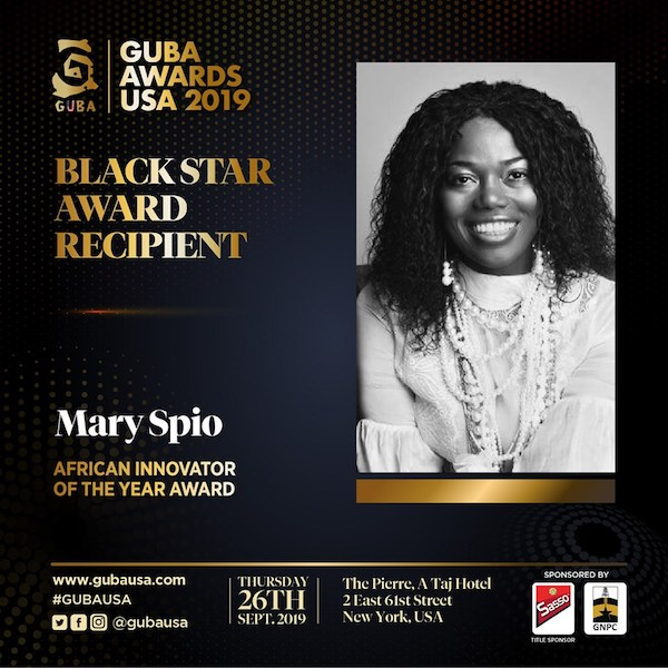 GUBA Awards USA 2019 Black Star Award for African Innovator of the Year