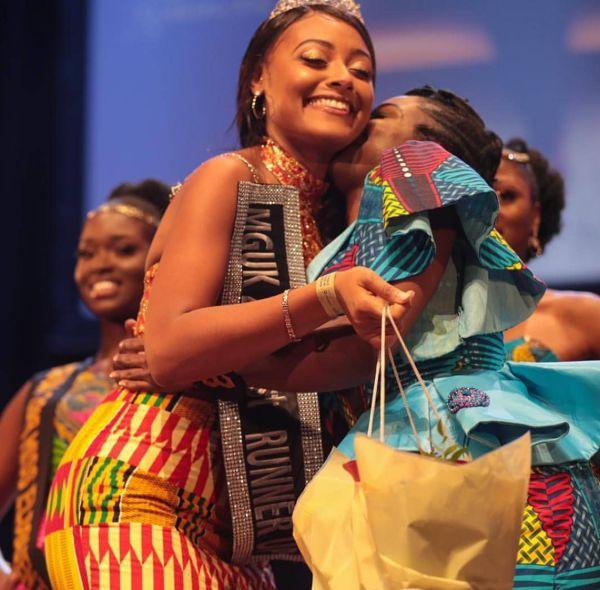 Miss Ghana UK 2018 1st Runners Up Sherrie Gaulder Akoto and 2nd Runners Up with 1st Runners Up Miss Abigail Obaahemma Akosua Owusu-Sekyere