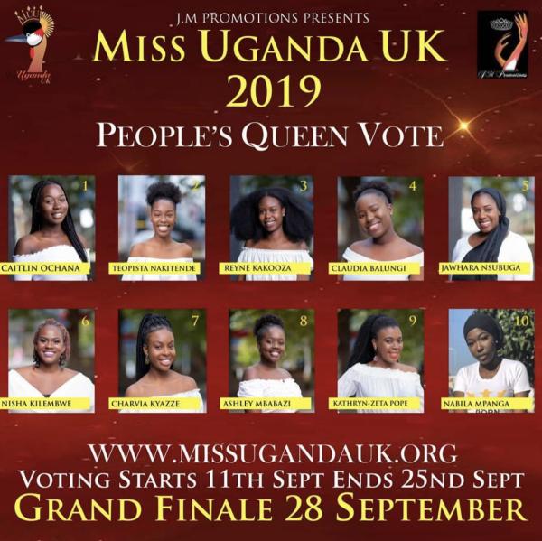 Miss Uganda UK 2019 Grand Final