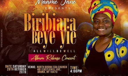 Singer Maame Jane To Release Yet Another Gospel Album in New York