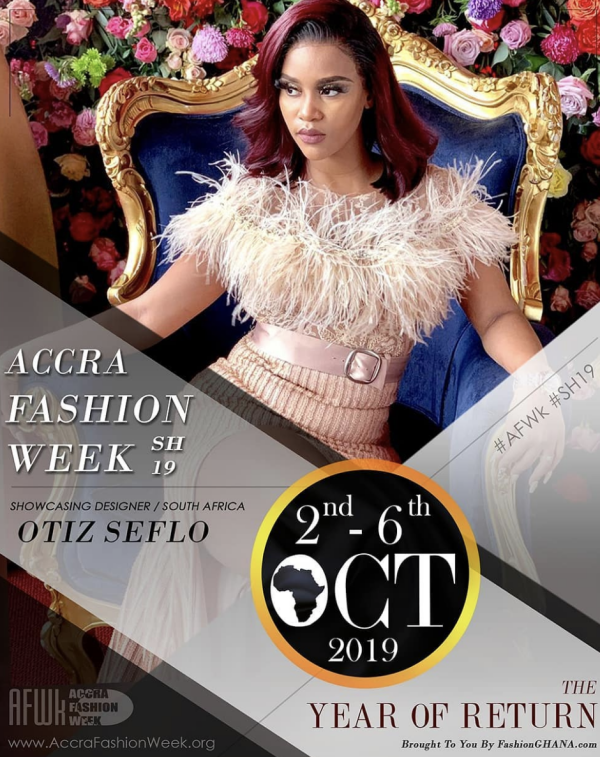 South African Celebrity fashion designer @otiz_seflo will be in Ghana to heat up the run way