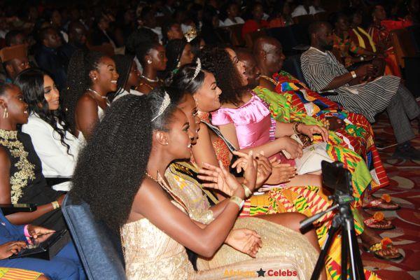 Akua Ohenewaa Anim Miss Ghana UK 2018, 1st Runners Up Sherrie Gaulder Akoto and 2nd Runners Up Monaliza Baaba Cudjoe.
