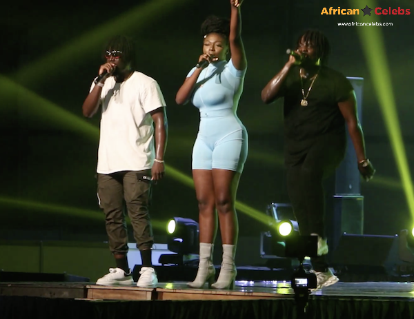 DopeNation and Sefa performing at Shatta Wale's Wonder boy album Launch