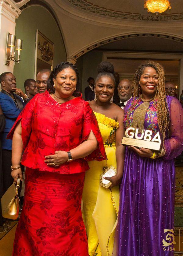 L-R H.E Rebecca Akufo-Addo, Dentaa & Mary Spio (African Innovator of the Year Award )