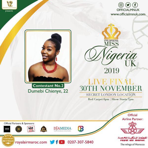 Miss Nigeria UK Dumebi Chienye