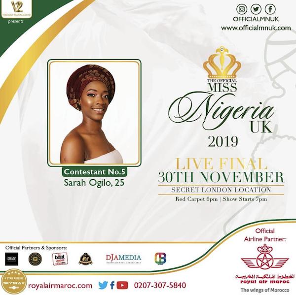 Miss Nigeria UK- Sarah Ogilo