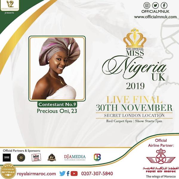 Miss Nigeria UK Precious Oni