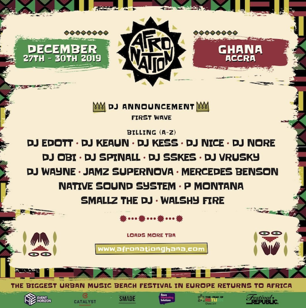 Afro Nation Ghana Announces First Wave Of DJ's