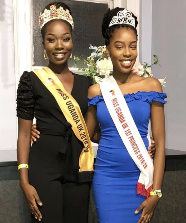 Miss Uganda UK 2019 Caitlin Ochana and her 1st Princess Teopista