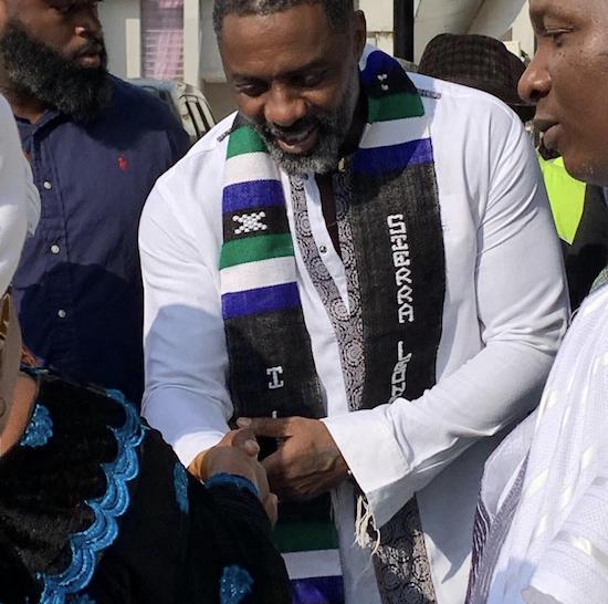 Idris Elba's First Visit To Sierra Leone
