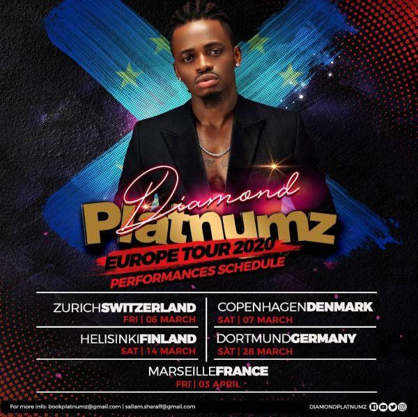Diamond Platnumz 2020 Europe Tour