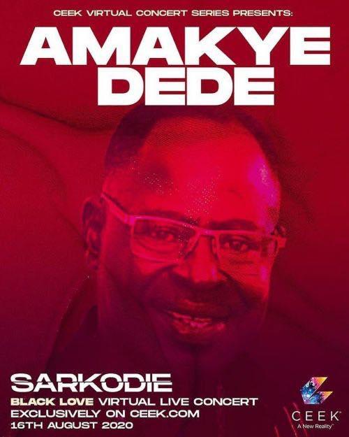 Amakye Dede Repping Sarkodie Black Love Virtual Concert