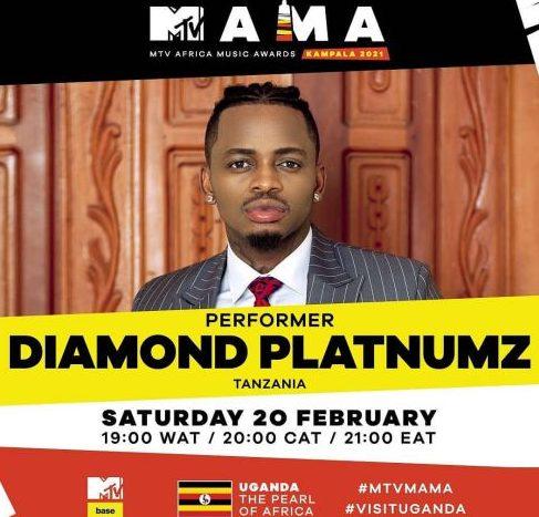 Diamond Platnumz Set To Perform At MTV MAMA Awards 2021
