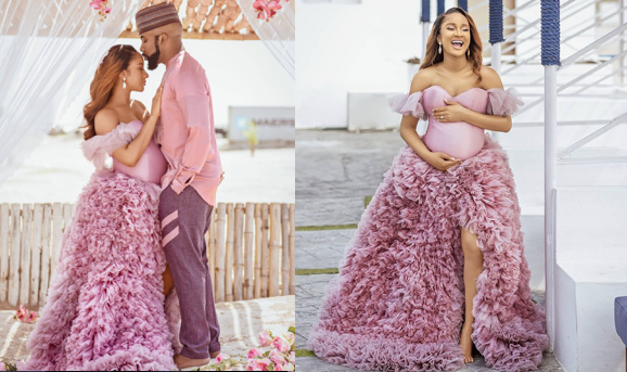 Adesua Etomi And Banky W. Welcomes A Baby Boy