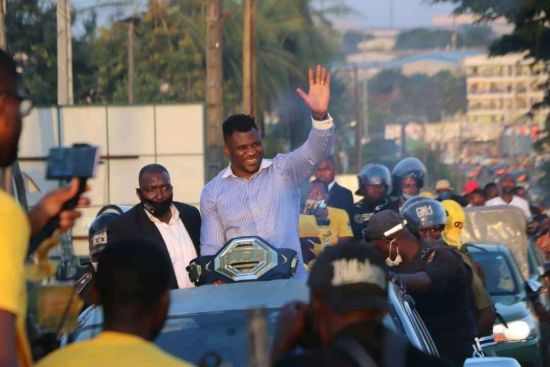 Francis Ngannou Get's A Hero's Welcome  In Cameroon