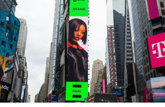 Gyakie gets a billboard at the New York Times Square