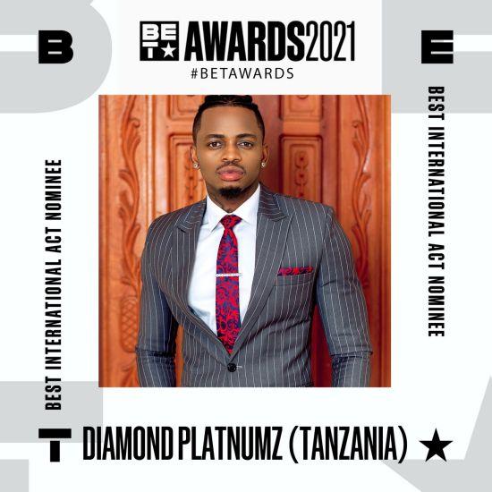 Diamond Platnumz Nominated for Best International Act at the BET Awards 2021