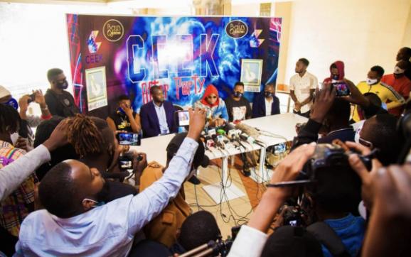 Harmonize Ceek Press Conference In Nairobi